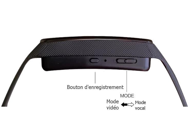 Bracelet caméra espion tactile 7